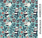 seamless cute pattern with... | Shutterstock .eps vector #440801515