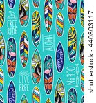 seamless vector pattern with... | Shutterstock .eps vector #440803117