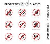 vector eye care  glasses... | Shutterstock .eps vector #440803465