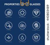 vector eye care  glasses... | Shutterstock .eps vector #440803489