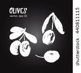 sketched vegetable ... | Shutterstock .eps vector #440811115