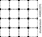 black and white dotted squares... | Shutterstock . vector #440812291