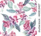 watercolor seamless pattern... | Shutterstock . vector #440813407