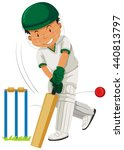 man player playing cricket... | Shutterstock .eps vector #440813797