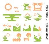 landscape icon set | Shutterstock .eps vector #440815261