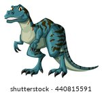 Dinosaur In Blue Color...