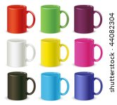 colored cups vector | Shutterstock .eps vector #44082304