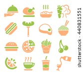 fast food icon set   Shutterstock .eps vector #440831551