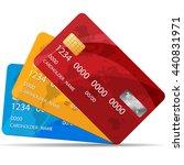 set of premium credit cards.... | Shutterstock .eps vector #440831971