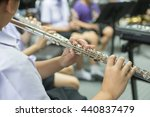 close up hands of young flute... | Shutterstock . vector #440837479