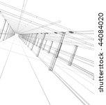 3d abstract construction   Shutterstock . vector #44084020