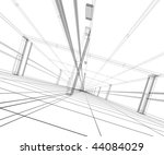 3d abstract construction | Shutterstock . vector #44084029