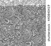 cartoon cute doodles hand drawn ... | Shutterstock .eps vector #440840419