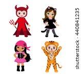happy halloween. funny little... | Shutterstock . vector #440841235