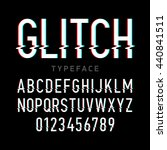 glitch distortion typeface.... | Shutterstock .eps vector #440841511