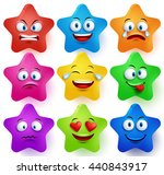 Star Faces Vector Set With...