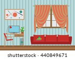 home interior flat vector...   Shutterstock .eps vector #440849671