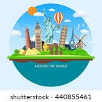 world travel. planning summer... | Shutterstock . vector #440855461