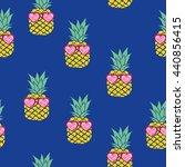 pineapple   vector  illustration | Shutterstock .eps vector #440856415