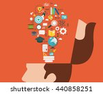 education and learning concept... | Shutterstock .eps vector #440858251