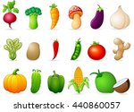 fresh vegetables cartoon | Shutterstock . vector #440860057