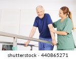 old man in physiotherapy on... | Shutterstock . vector #440865271