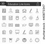 30 education line icons  vector ... | Shutterstock .eps vector #440873347