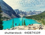 beautiful moraine lake in banff ... | Shutterstock . vector #440874109