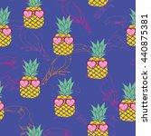 pineapple   vector illustration | Shutterstock .eps vector #440875381