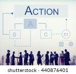 business analytics workflow... | Shutterstock . vector #440876401