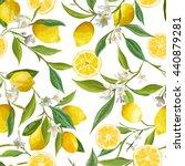 Seamless Floral Pattern. Lemon...