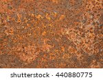 old grungy and dirty red rusty... | Shutterstock . vector #440880775