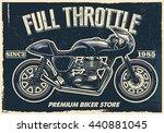 vintage motorcycle poster ... | Shutterstock .eps vector #440881045