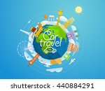 world famous signts abstract... | Shutterstock .eps vector #440884291