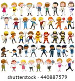 many characters with different... | Shutterstock .eps vector #440887579
