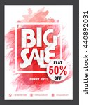 stylish big sale flyer  flat... | Shutterstock .eps vector #440892031