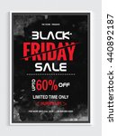 black friday sale poster  up to ... | Shutterstock .eps vector #440892187