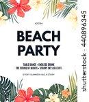 bright hawaiian design with... | Shutterstock .eps vector #440896345