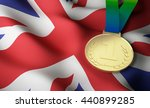 gold medal on great britain... | Shutterstock . vector #440899285