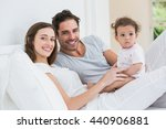 portrait of cheerful couple... | Shutterstock . vector #440906881