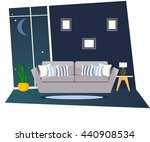 furniture. the living room at... | Shutterstock .eps vector #440908534