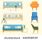 furniture. set of sofas with... | Shutterstock .eps vector #440908939