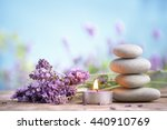 spa still life with stack of... | Shutterstock . vector #440910769