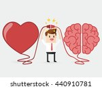 businessman connecting brain... | Shutterstock .eps vector #440910781