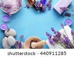 essential oil seasalt candles... | Shutterstock . vector #440911285