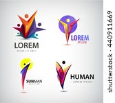 vector set of man logos  team ... | Shutterstock .eps vector #440911669