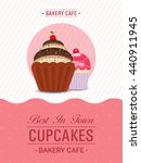 cupcakes template  cupcake... | Shutterstock .eps vector #440911945