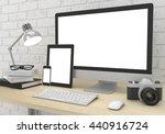 responsive mockup screen....   Shutterstock . vector #440916724