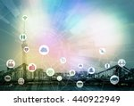 smart city and internet of... | Shutterstock . vector #440922949