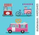 vector  ice cream cart.set of... | Shutterstock .eps vector #440926405